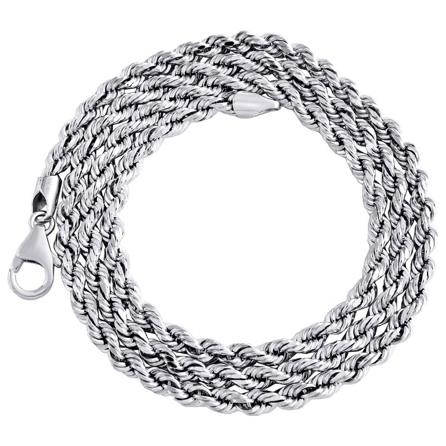 Sterling Silver Polished Solid 3.25mm Box Chain Necklace With Lobster Clasp Length 30 Inch