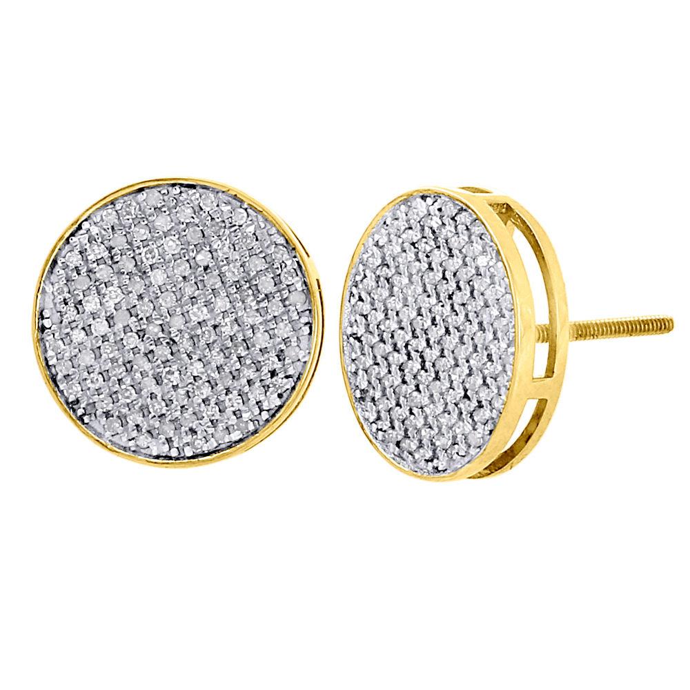 Womens Double Heart Pave Diamond 14 Mm Stud Earrings