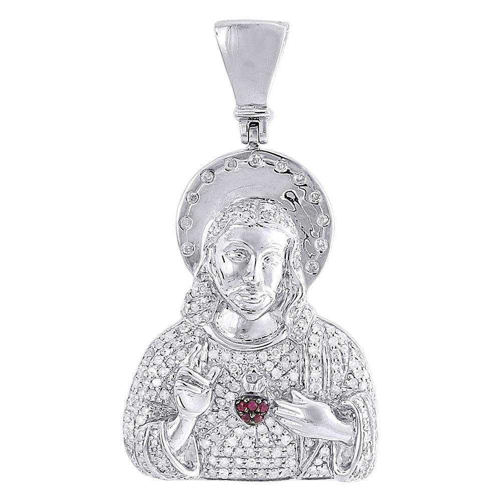 2.00 Ct Rond Coupe Diamant 10k Or Blanc Finition Coeurs Pendentif Charm Pièce.