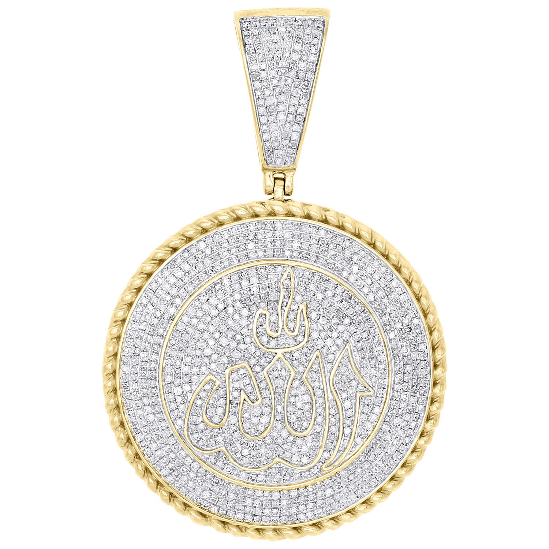 0.18 CT véritable diamant blanc 14k or Massif Pendentif Croix Charm
