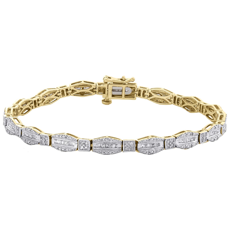 Créé Blanc Saphir Double-Row Tennis Bracelet en argent sterling