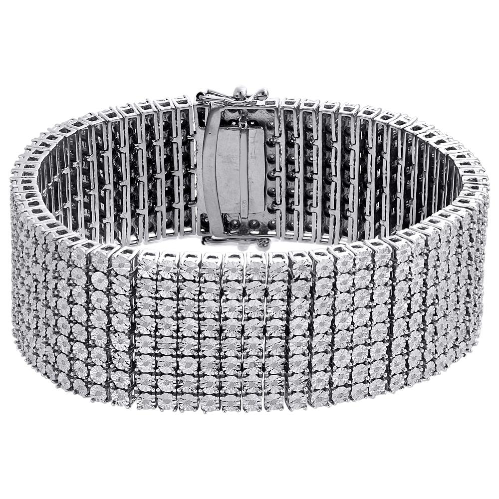 14K Or Jaune Sur Argent Sterling 925 Tennis Bracelet avec 4 CT Labo Diamants