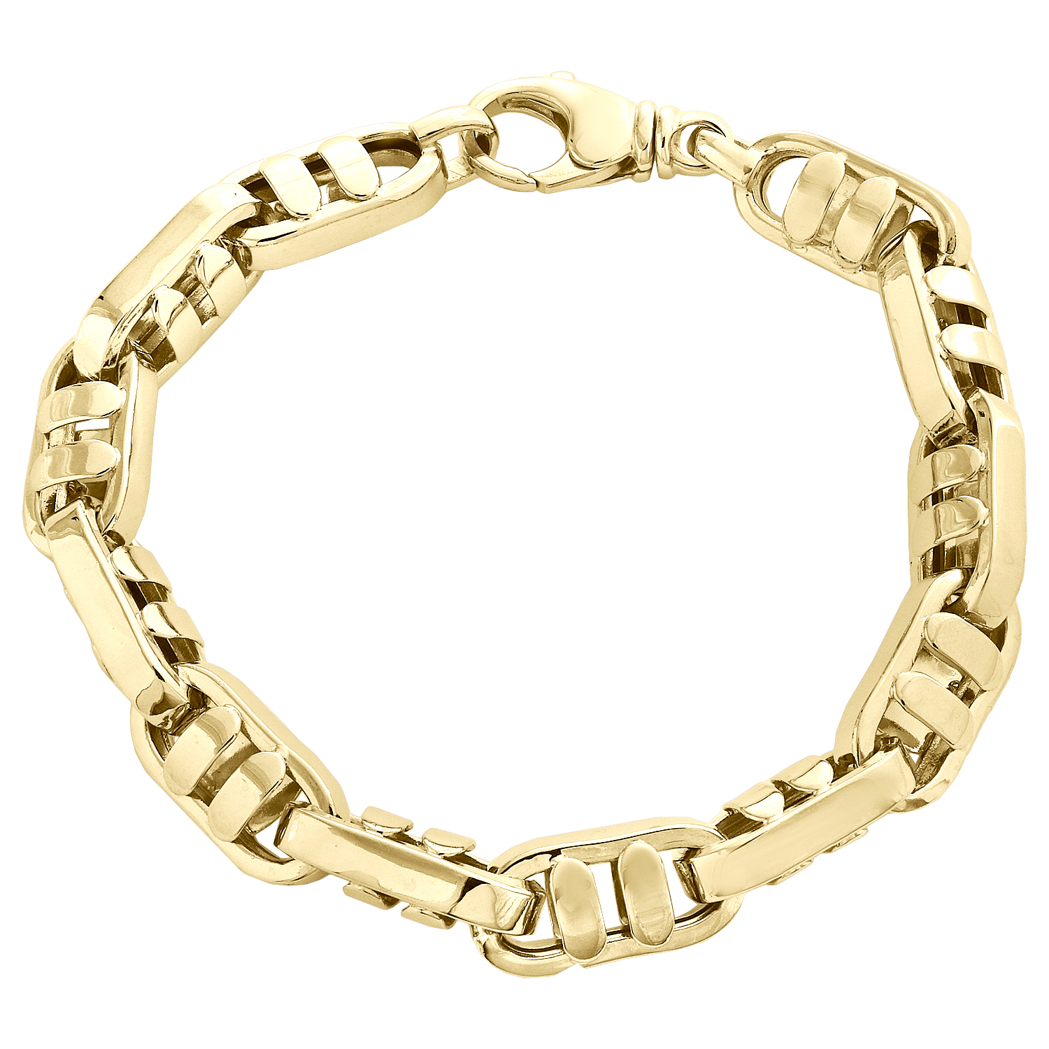 14K Or Jaune Brillant byzantine Fancy Bracelet