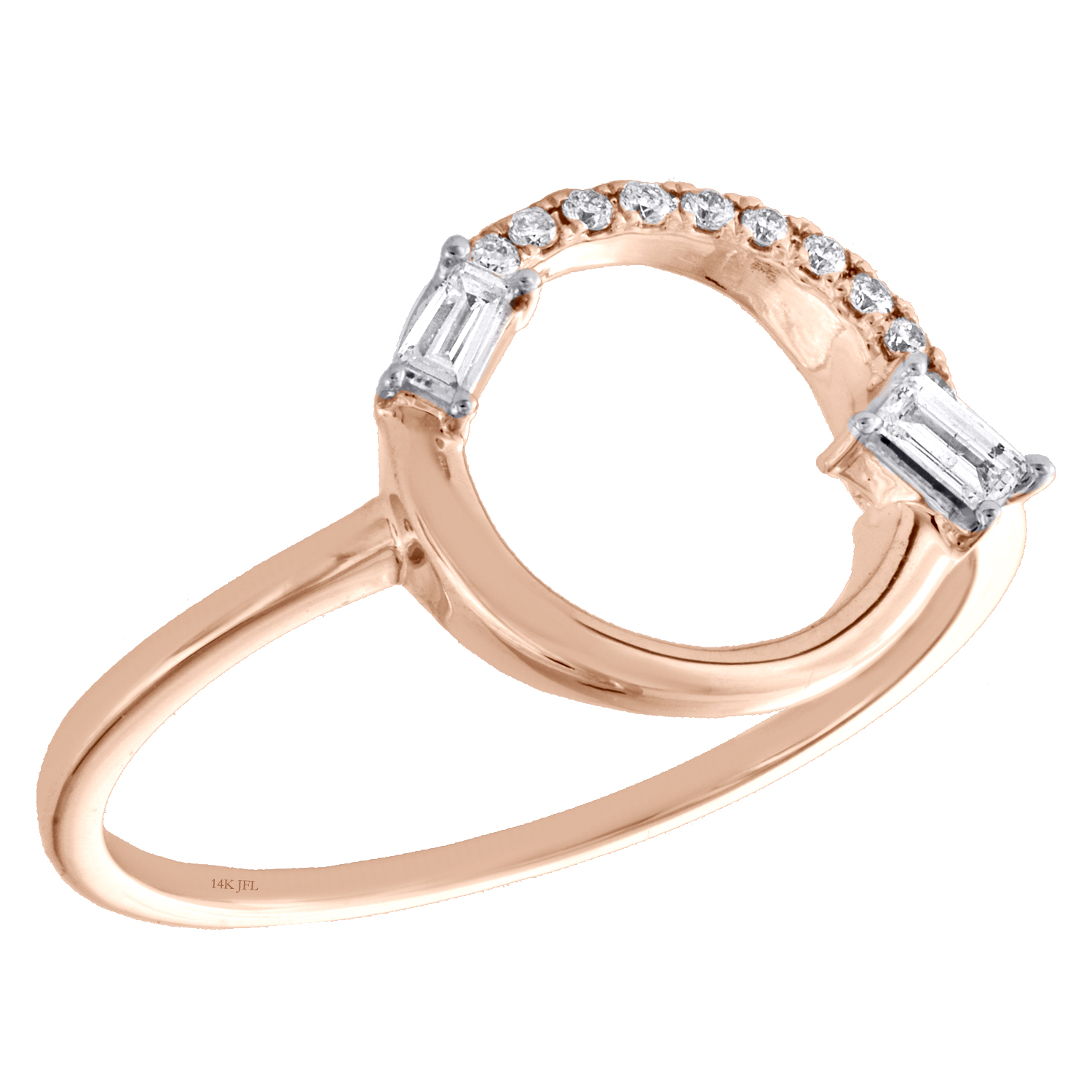 10k Yellow Gold Small Diamond Ring Fashion Band Cluster Style Round Prong Set Polished 1//8 ctw