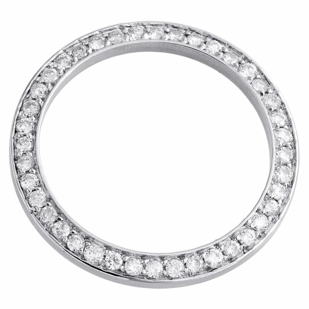 14k Blanc or massif créé Diamant Solitaire Rond Câble Chaîne Collier 1.00 Ct