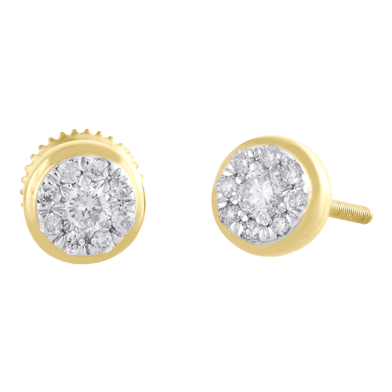 0.25ct Diamond in 14K Yellow Gold Star Climber Earrings