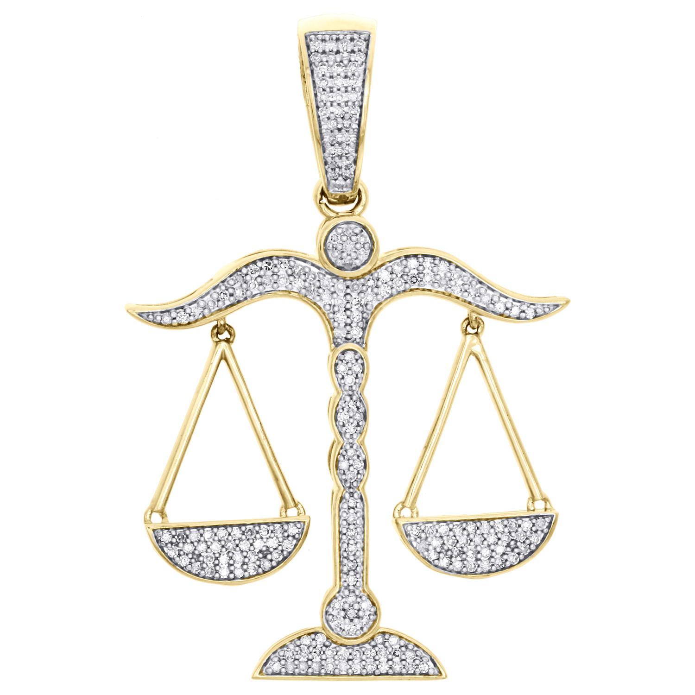 Unisexe 10K or Blanc Micro Pavé Véritable Diamant Ankh Croix Pendentif Breloque