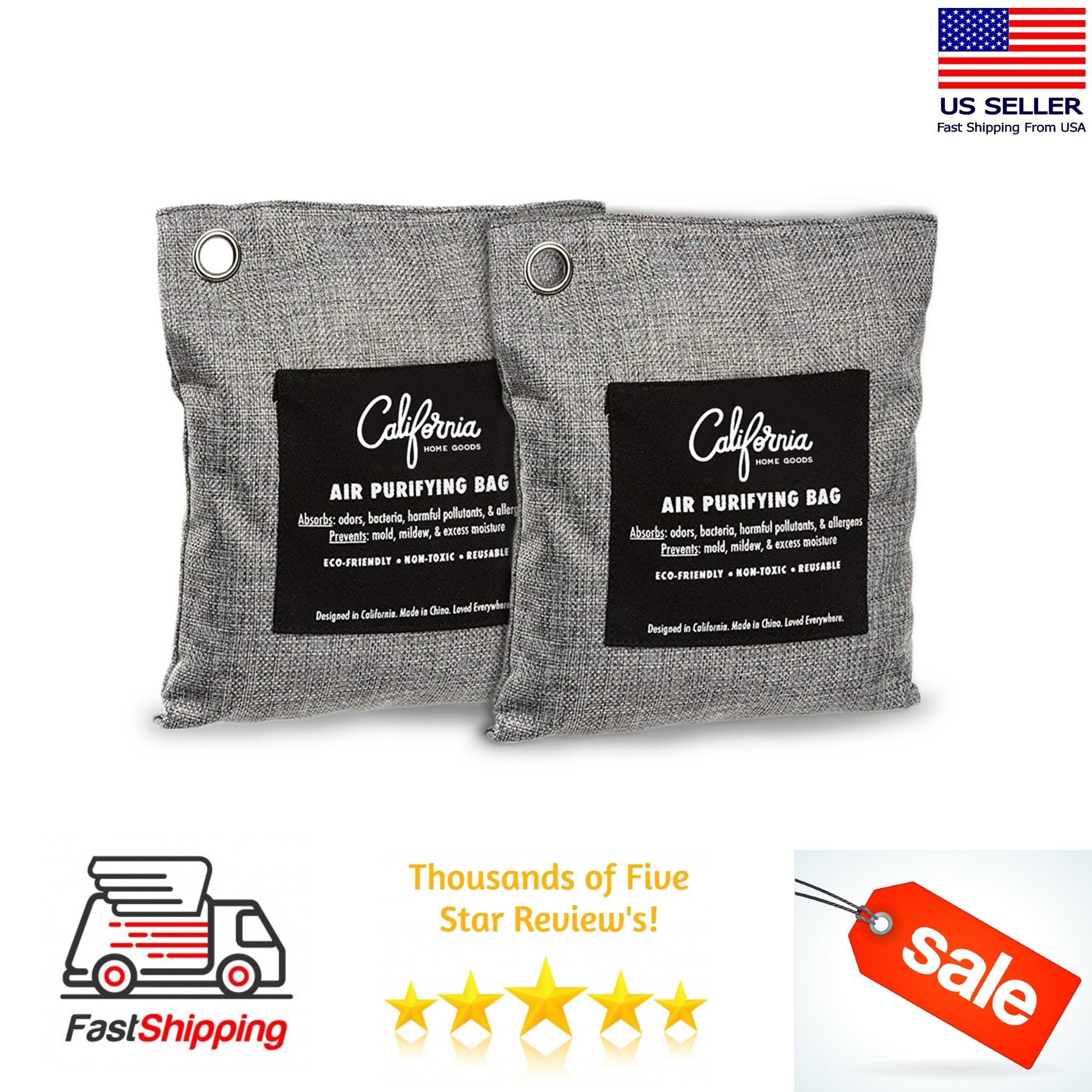 Air Purifying Bag Natural Bamboo Activated Charcoal200 Gram BagAir Filter