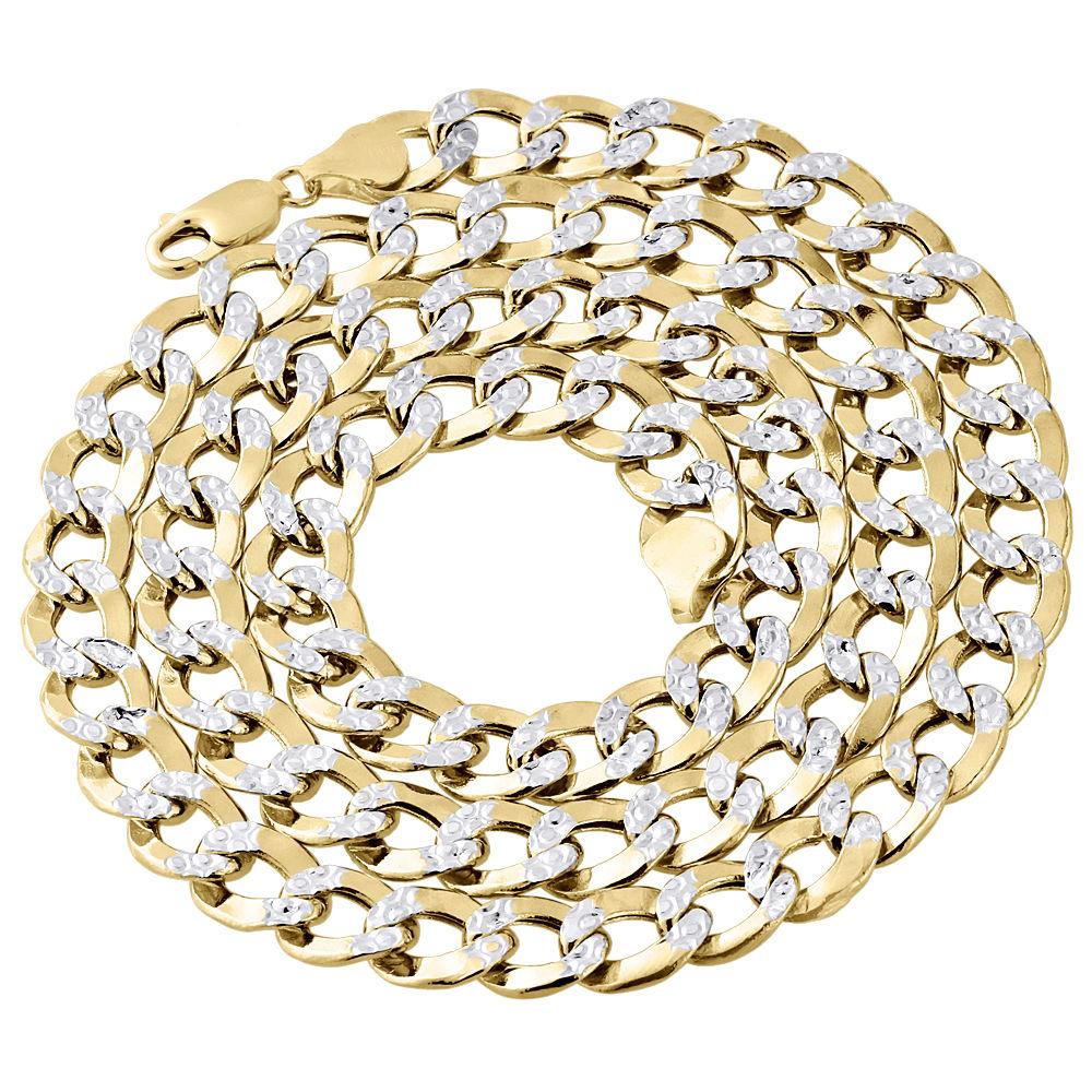 10k or Jaune Hommes Femmes creux Corde Diamond Cut Chaîne Collier 3 mm