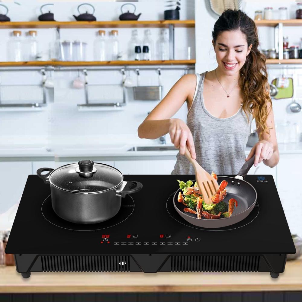 Cheftop Induction 2 Burner Cooktop 1800W Digital 2 Burner Electric Cooktop
