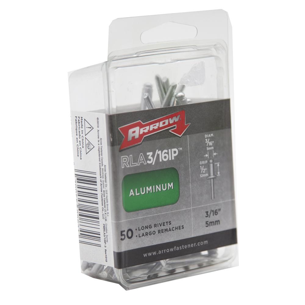 100-Pack Arrow Fastener RSS1//8IP Short Steel 1//8-Inch Rivets