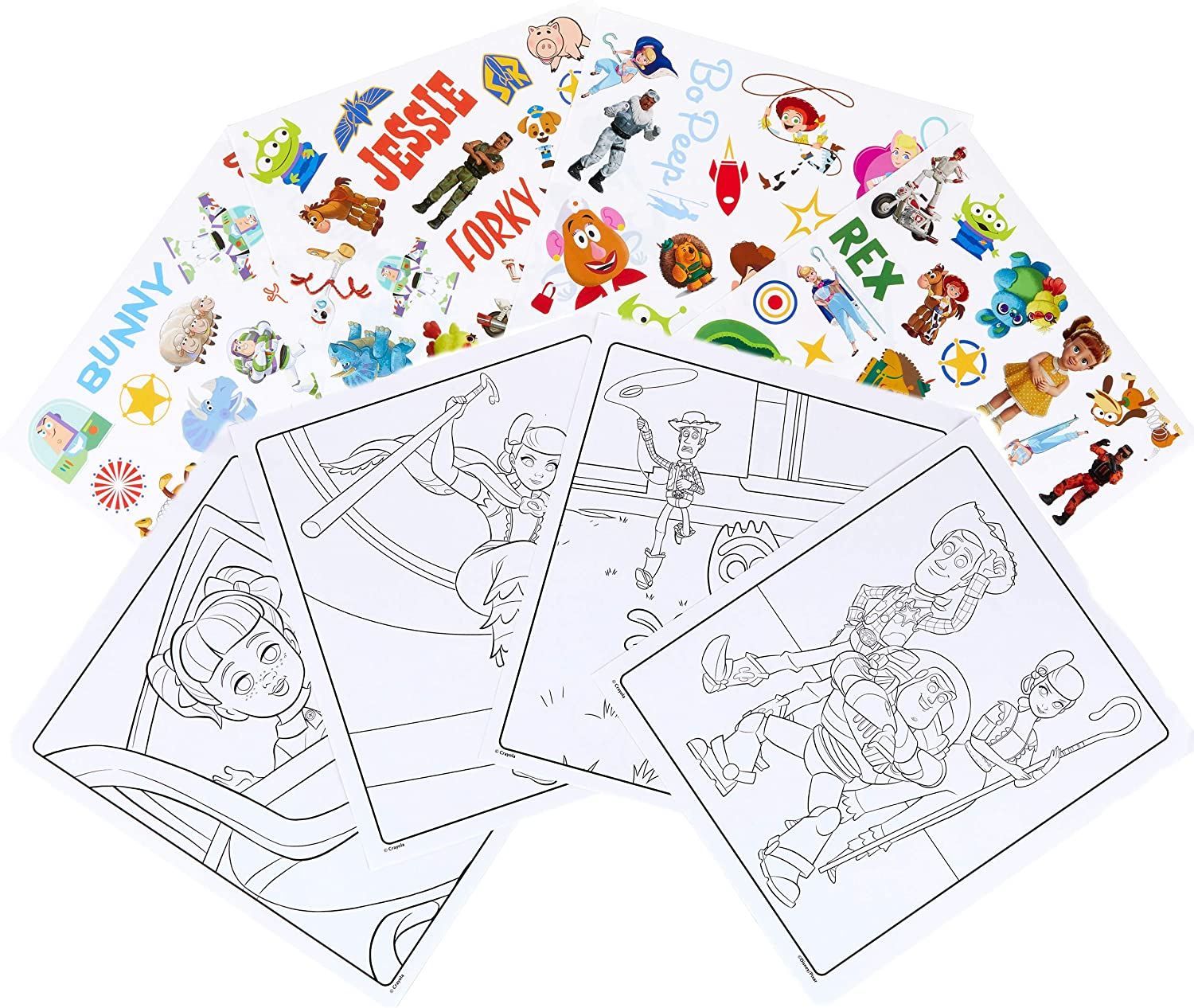 Crayola Toy Story 4 Coloring Pages & Stickers, Kids at ...